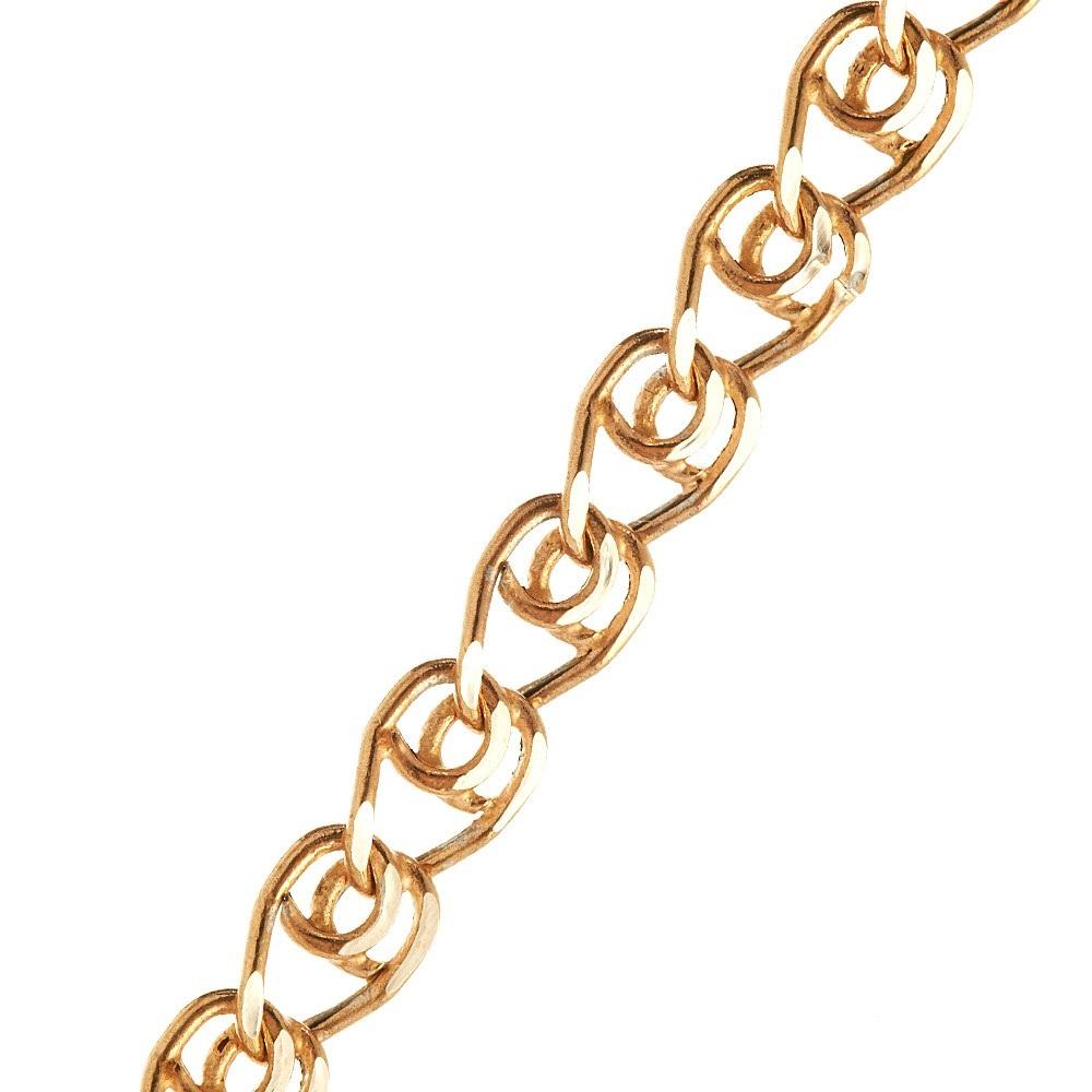 Золотая цепочка, плетение Лав с родированием