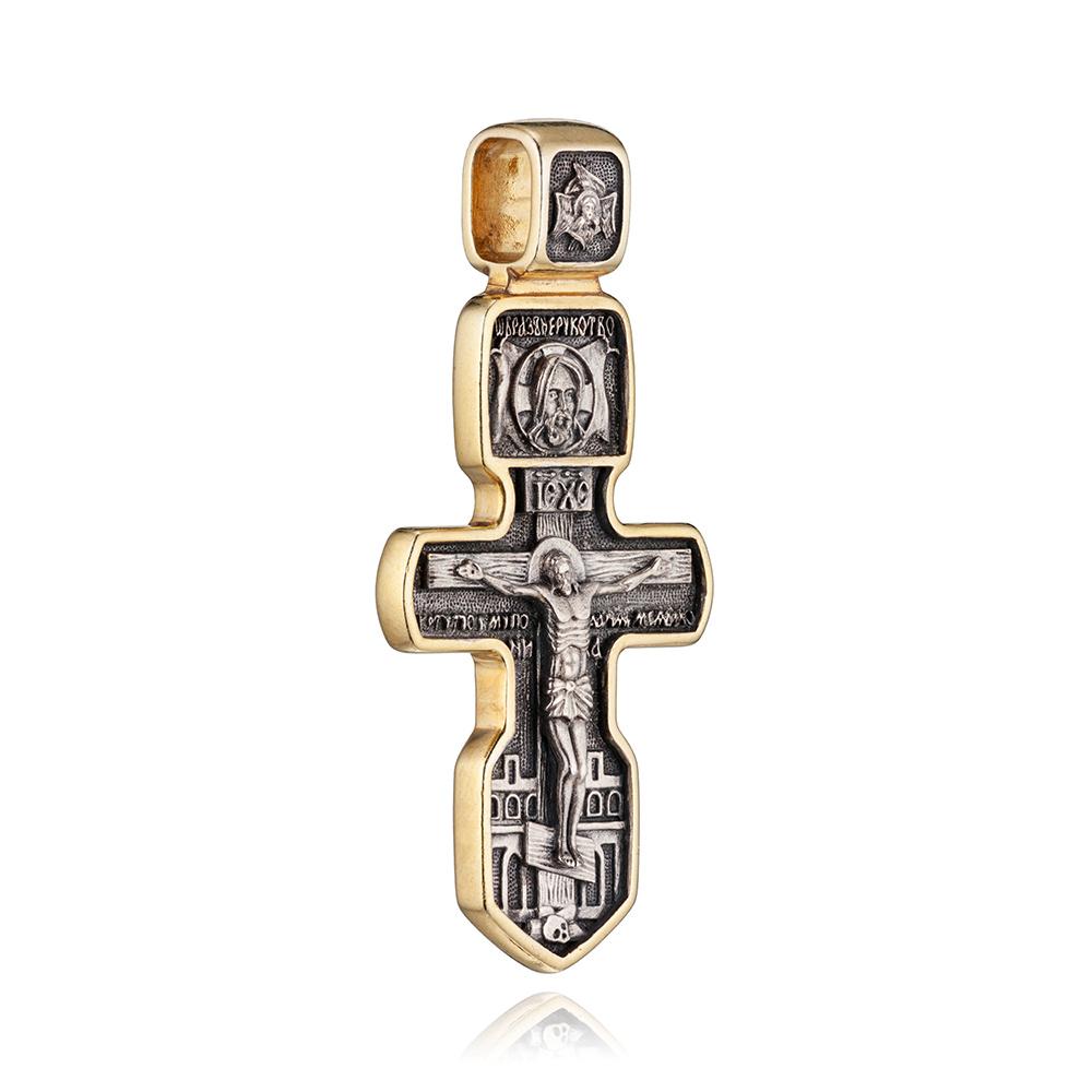 Крест с позолотой