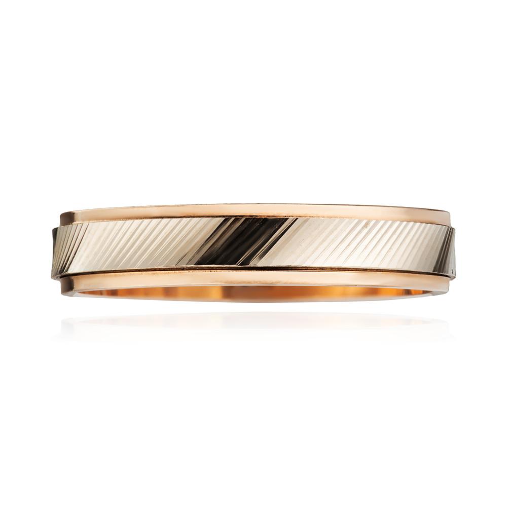 Кольцо обручальное с вращающейся вставкой, 4 мм