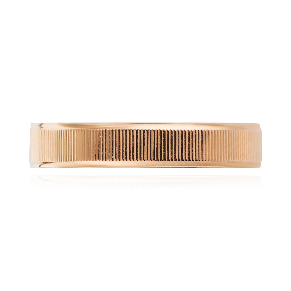 Кольцо обручальное с алмазной гранью, премиум