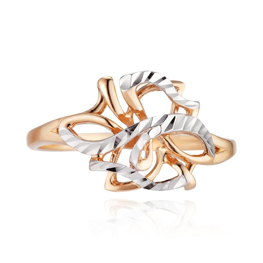 Кольцо с алмазной гранью и родиванием