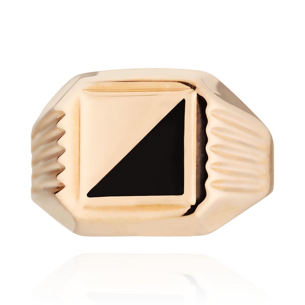 Кольцо-печатка с ониксом