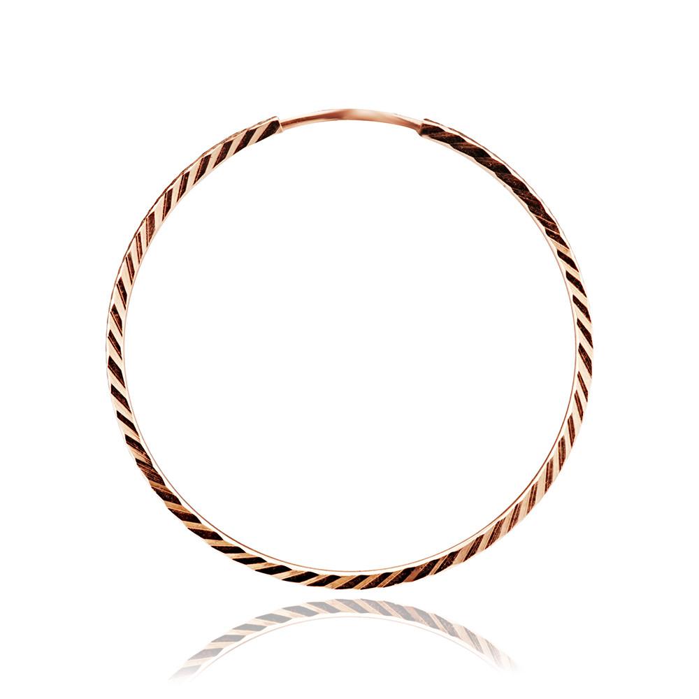 Серьги-конго с алмазной гранью, 3,5 см