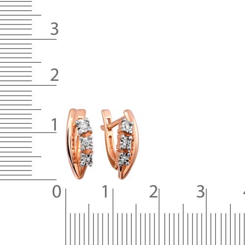 Серьги с бриллиантами и родированием