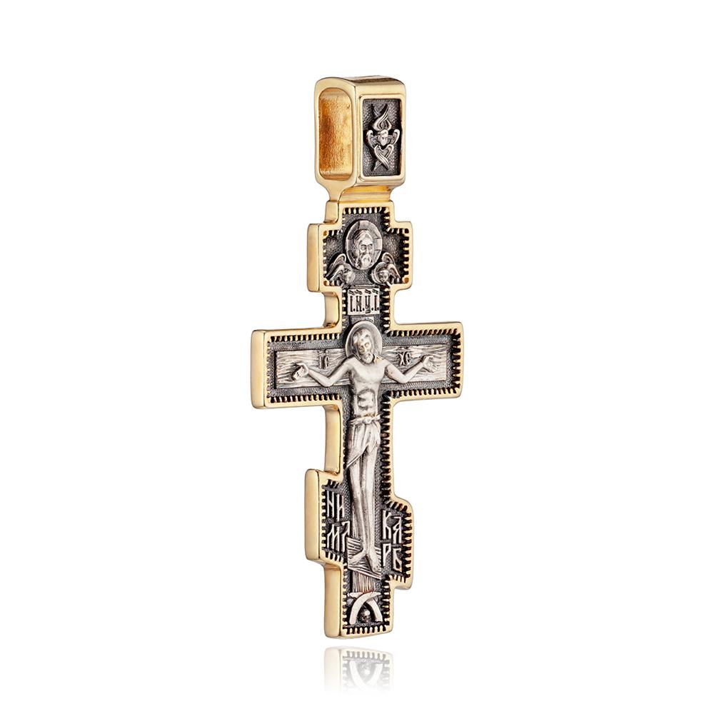 Крестик с позолотой
