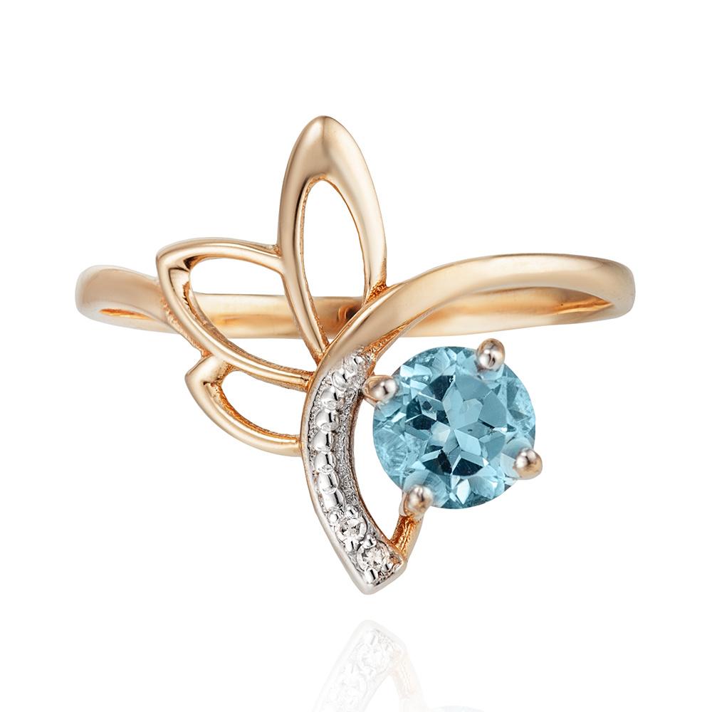 Кольцо с топазом Sky и бриллиантами