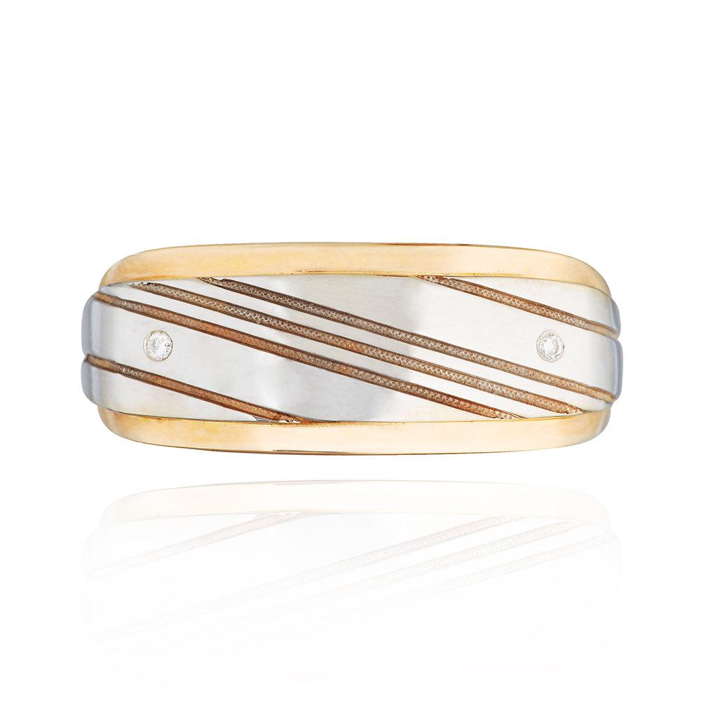 Кольцо - печатка с бриллиантом