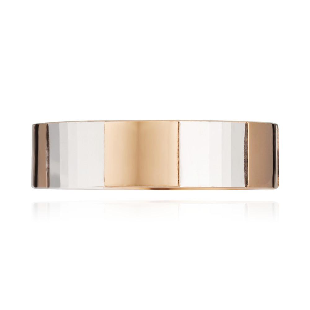 Кольцо обручальное плоское с алмазной гранью