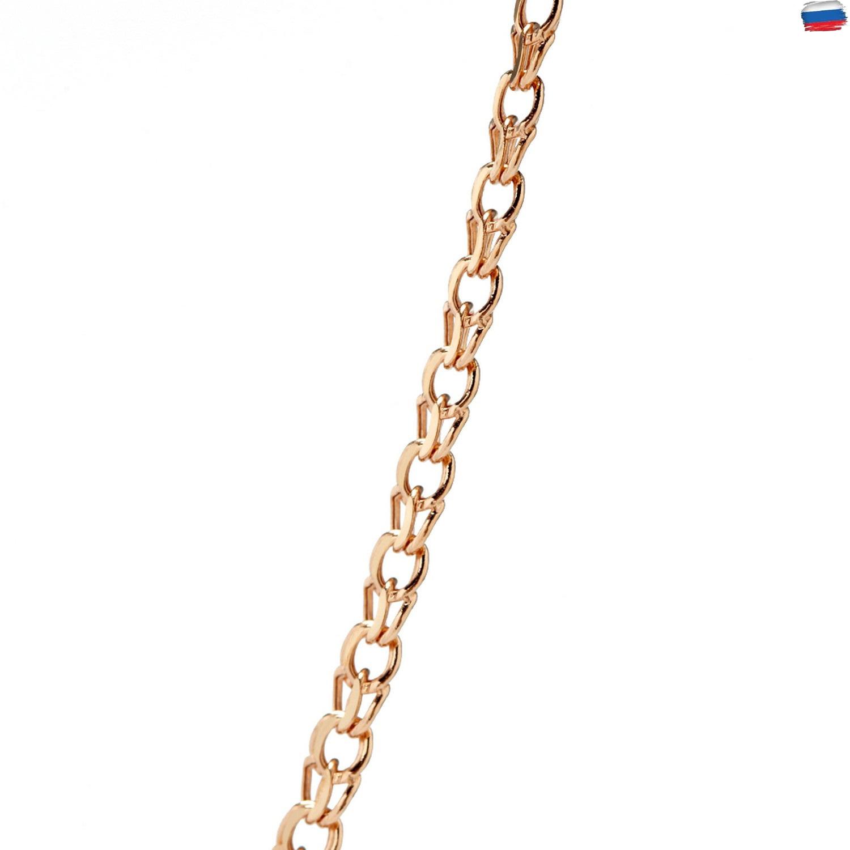 Золотая цепь  пустотелая, плетение Бисмарк