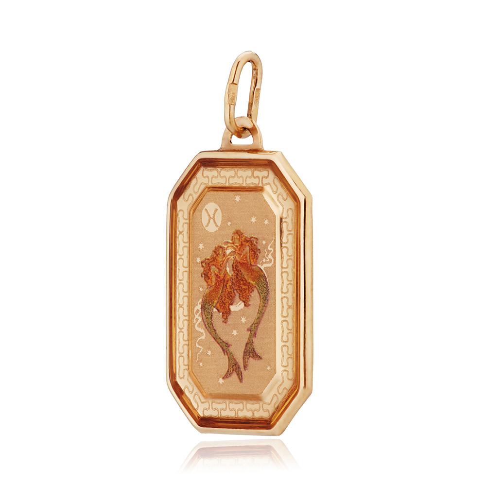 Подвеска из золота, знак зодиака Рыбы