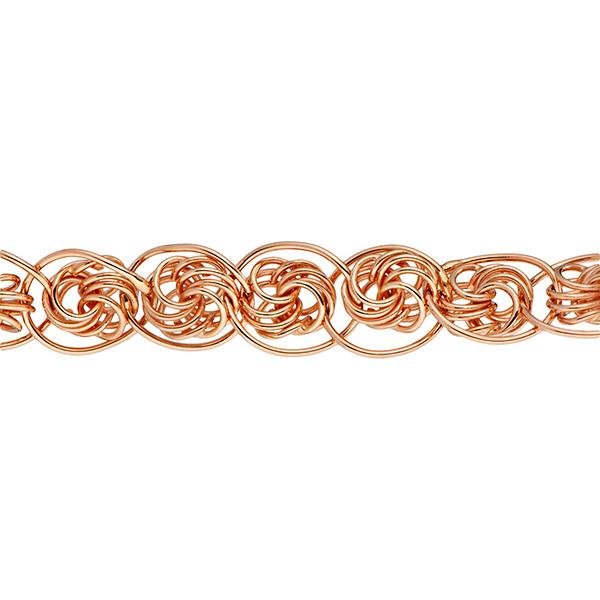 Браслет, плетение Нонна-роза, 9 мм