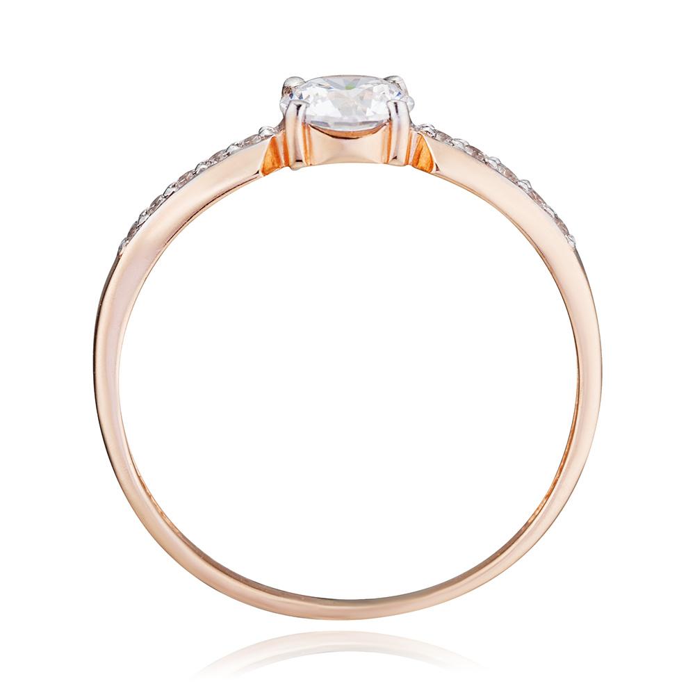 Кольцо с кристаллами SWAROVSKI и фианитами из золота