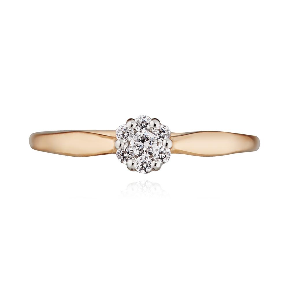 Кольцо с фианитами из золота