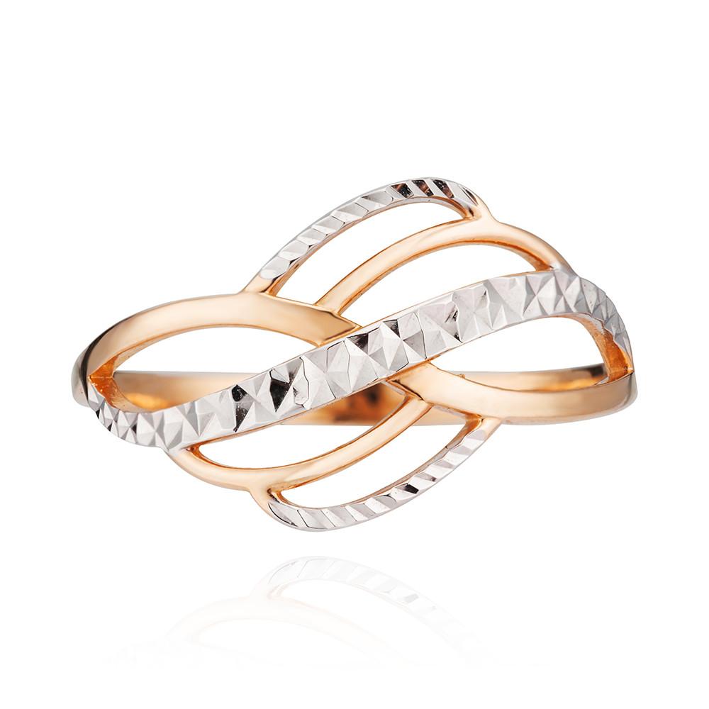 Кольцо с алмазной гранью и родированием