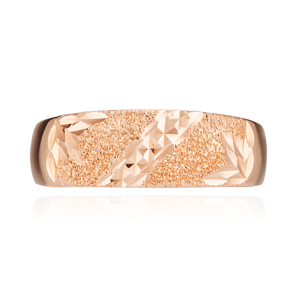 Кольцо с алмазной гранью и матированием