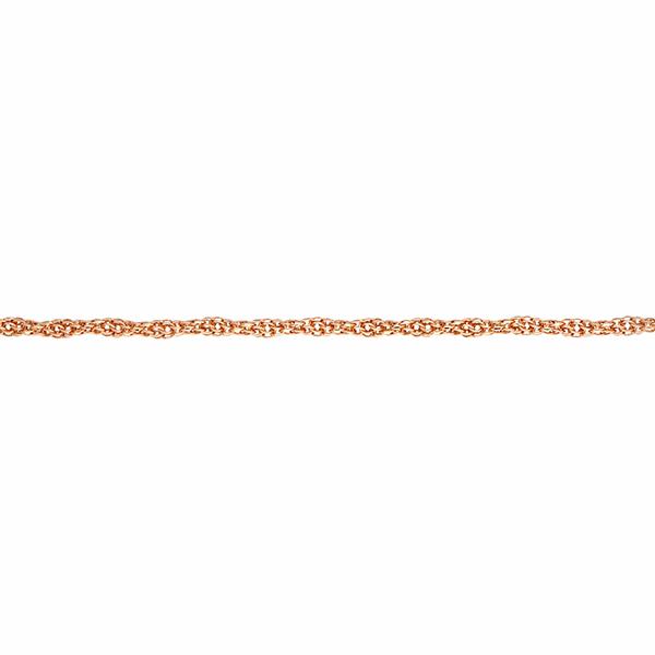 Цепочка, плетение Веревка с алмазной гранью 2-х сторон, 5 мм