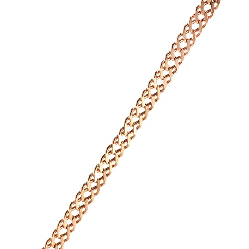 Золотая цепочка, плетение ромб двойной