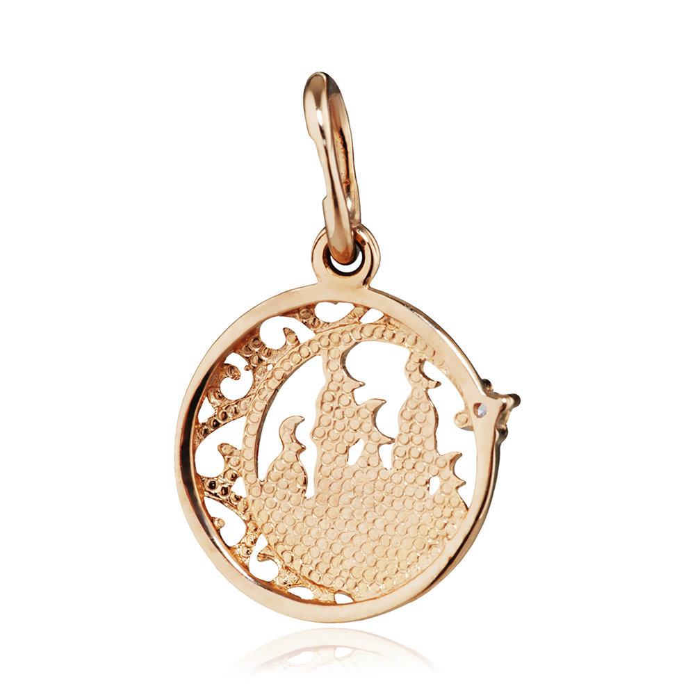 Подвеска мусульманская с фианитом из золота