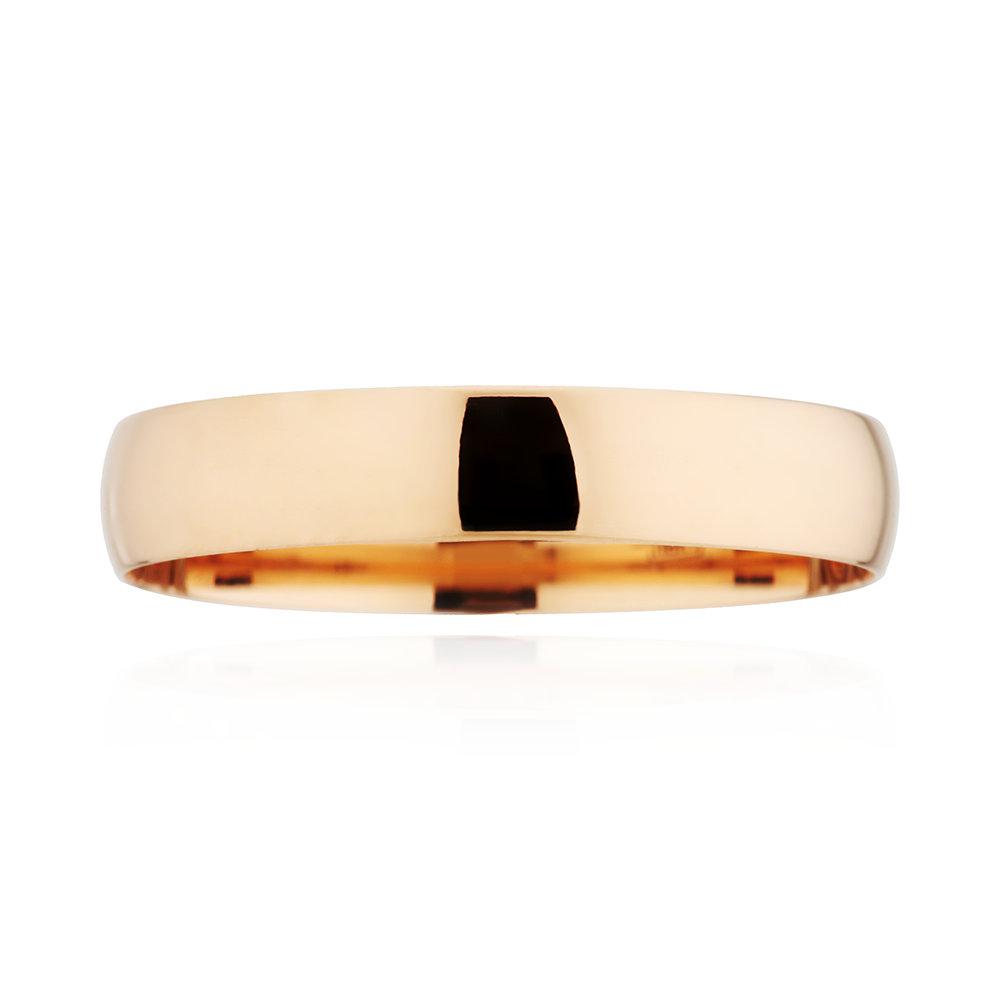 Кольцо обручальное из золота, 5 мм
