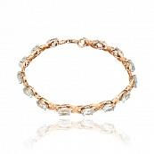 Золотой браслет с топазами и бриллиантами