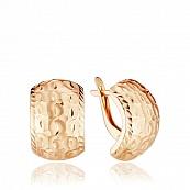 Серьги с алмазной гранью