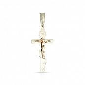 Крестик двусплавный, ручная гравировка
