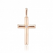 Подвеска-крест с бриллиантом