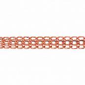 Браслет, плетение Каприз с алмазной гранью 6-ти сторон, 8 мм